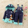 NEW 2016 winter children clothing sets duck down jacket sets pants-jacket hooded baby winter jacket & coat Pony pattern 6-18M 2T