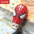 Venda quente! novo homem Aranha dos desenhos animados avenger unidade flash Usb Pen drive de Metal Usb memory stick usb disk 1 GB 2 GB 4 GB 8 GB 16 GB 32 GB