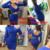 Blau schwarz weiß langarm elastische warme herbst elegante party kleider 2016 sexy midi bleistift club verband bodycon dress m0522