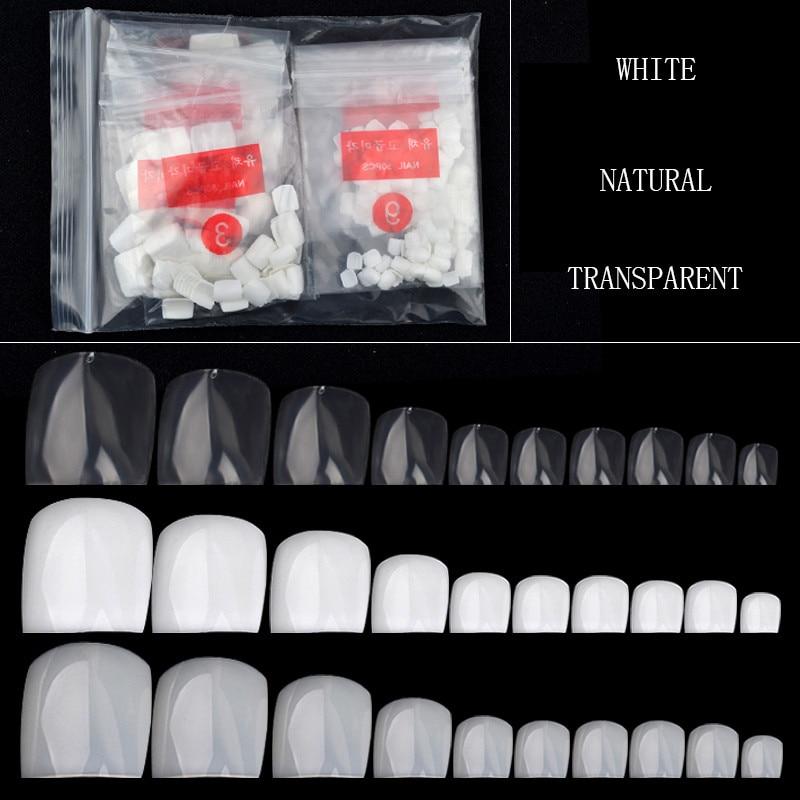 24pcs Nail Stickers Tips Patches False Nails Foot Toenail Tablets ...
