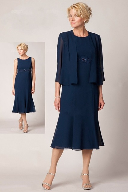 2017 New Arrival Short Tea Length Mother of The Bride Dresses with ...