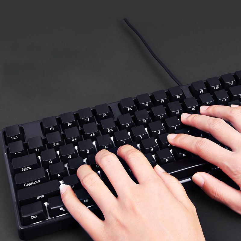 104 Keys Mechanical Keyboard Computer Gamer For Desktop Laptop Side Word Pink Gaming Keyboards Without Backlit Black Red Switch in Keyboards from Computer Office