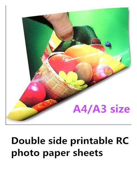 A4 200 pieces A3 100 pieces 260gsm waterproof glossy double side printable RC photo paper sheets