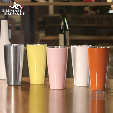 850ml Shaker Boston Shaker Glass Cup Stainless Steel Colored Hall Cup Shake Glass American Shaker maywufa 850ml 500ml