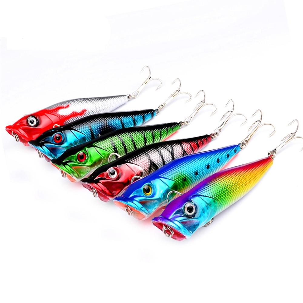 1ks 3D Lifelike Popper Rybářské návnady Pesca Ryby Popper návnady 8cm / 12g Rybářské woblery Isca Umělé návnady Swimbait ZB9033