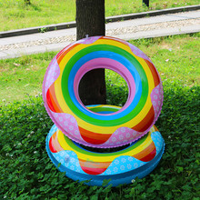 Inflatable Pool Flating Rainbow Swim Ring Pool Float inflatable Donut Swimming Circle women Float Pool Party Lifebuoy Water toys 1 25 1 35 m inflatable unicorn giant water sprinkler pool float swim ring pegasus floating swim float toys child