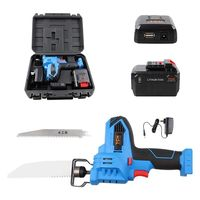 16V MAX Lithium Ion Cordless Reciprocating Saw Kit with 2x Wood Blades and 1/2'' Stroke Length For Wood & Metal Cutting