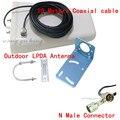 Ao ar livre Antena 800-2500 mhz de freqüência 3G 4G GSM CDMA Direcional LPDA Antena para Reforço De Sinal Do Lado de Fora repetidor com 10 m Cabo