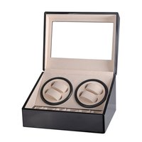 US/EU/AU/UK Plug Automatic Mechanical Watch Winders Storage Box Case Holder 4+6 Collection Watch Display Jewelry Black