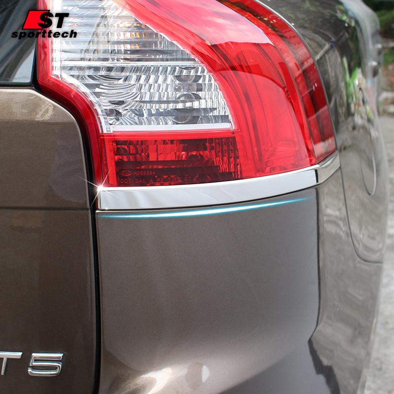 Prix pour Car Styling Arrière Lampe Autocollant Pour Volvo XC60 Acier Inoxydable Queue Lumière Couverture Autocollant Chrome Styling Pour 2009-2017 accessoires