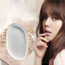 10Pcs New Clear Silicone Makeup Powder Puff Ellipse Jelly Cosmetic Puff Beauty Makeup Tool Health Transparent Makeup Sponge Puff