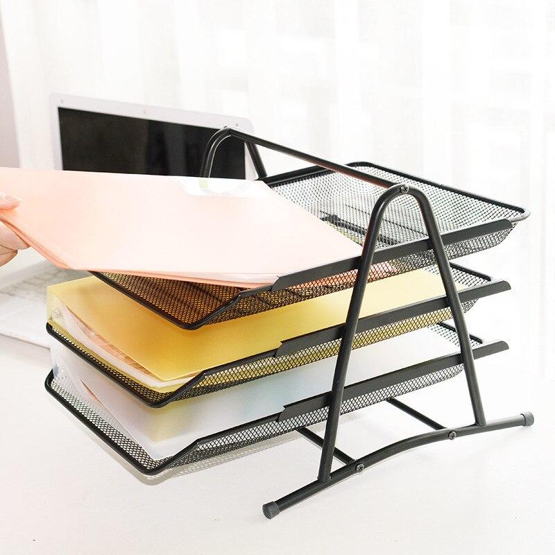 Лоток для документов A4/3 Слои данных, металлическая оправа, очки, лоток для документов железная сетка из трех Слои лоток для документов