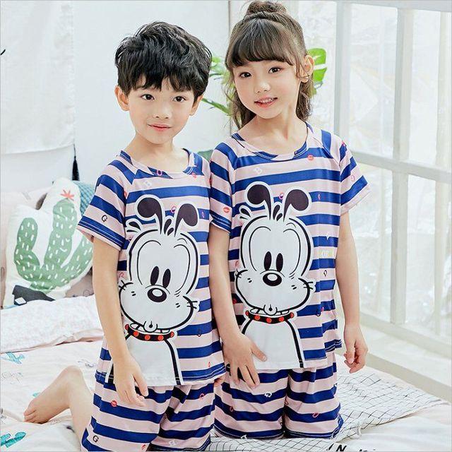 1fc32ee298 Hot Sale Children Clothing Summer Nightwear Boys Girls Baby Pajamas Cotton  Princess Nightgown Kids Home Cltohing Girl Sleepwear
