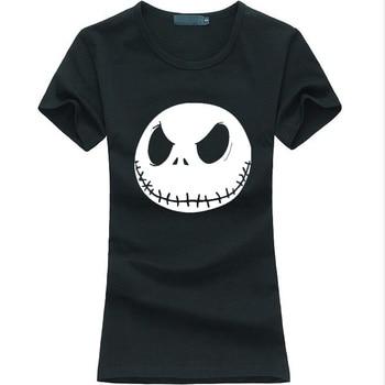 new arrival summer style Jack Skellington women funny tshirt harajuku casual tee shirt punk femme fashion brand hipster slim top