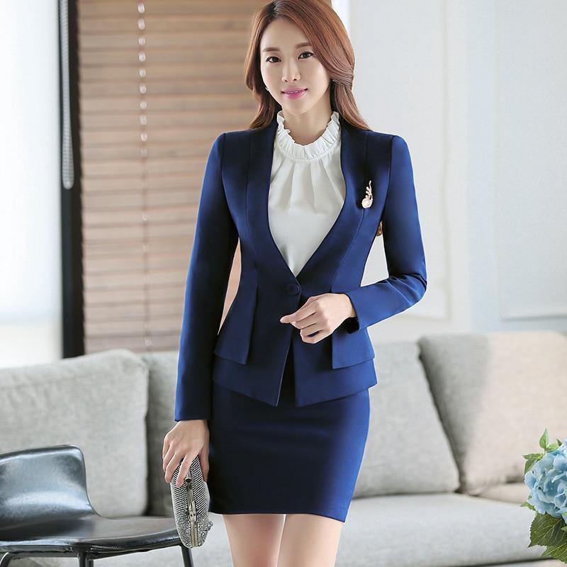 High Quality/Two Piece Ladies Formal Pant Suit Office Uniform Designs Women Business Suits Red ...