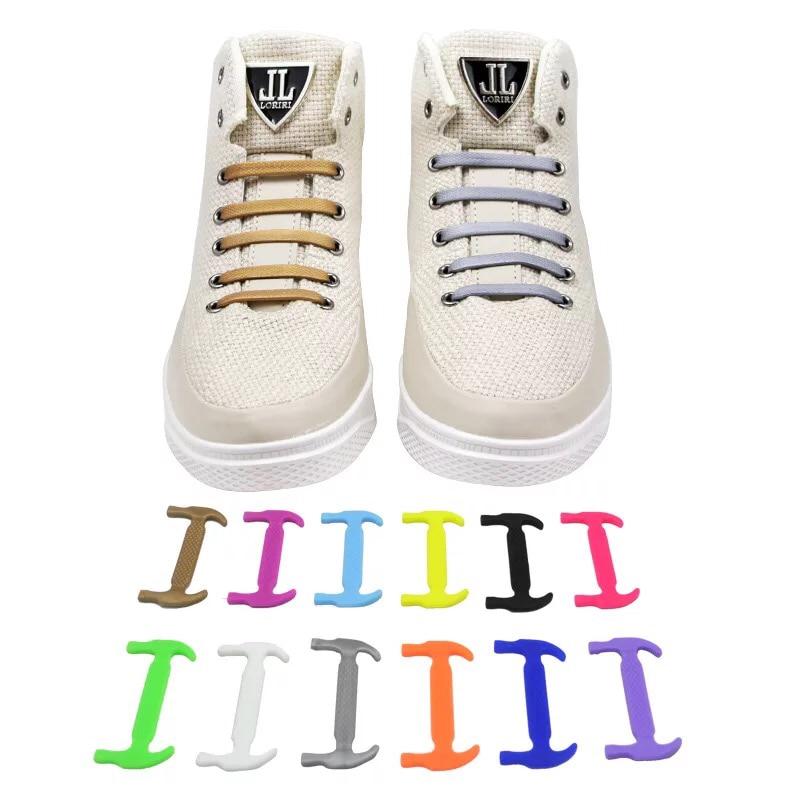 16pcs/set Elastic Silicone Shoelaces For Shoes Special Shoelace No Tie Shoe Laces For Men Women Lacing Shoes Rubber Shoelace L5