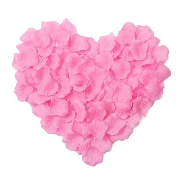 5000pcs / lot 5*5cm silk rose petals for Wedding Decoration, Romantic Artificial Rose Petals Wedding Flower Rose Flower 3