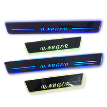 цены LED DOOR SILL PLATE LIGHTS moving door scuff Nerf Bars Running Boards entry guards covers for Ranger 2012-2019 car door Plate