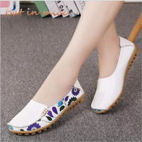 2018 Women Flat Shoes Loafers PU New Casual Style Round Toe Shallow Mouth Spring Summer Women