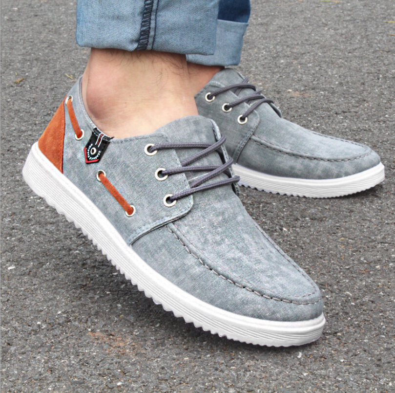 Aliexpress.com : Buy Canvas Lace up Flat Shoes Solid Men Super ...