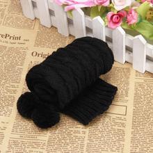 купить Leg Warmers For Women Bowknot Crochet Knitted Cuffs Botas Botines Mujer Invierno #2649 дешево