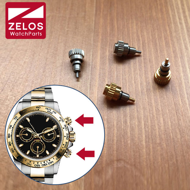 2pieces/set waterproof watch screw push button crown for RLX Cosmograph Daytona