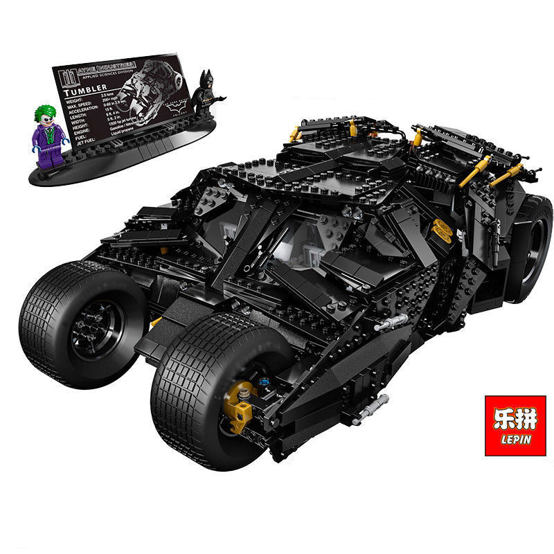 Lepin 07060 1969Pcs Super Heroes Batman Block Chariot The Tumbler Batmobile Batwing Building Blocks Bricks Education Toys Gifts lepin 07060 super series heroes movie the batman armored chariot set diy model batmobile building blocks bricks children toys