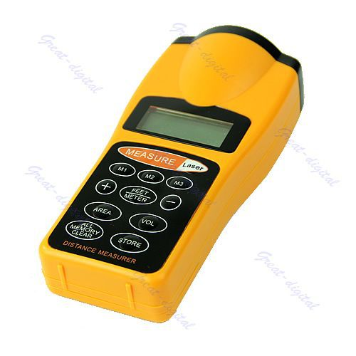 все цены на LCD Ultrasonic Laser Pointer Distance Measure Range Finder Device 18M 60FT онлайн