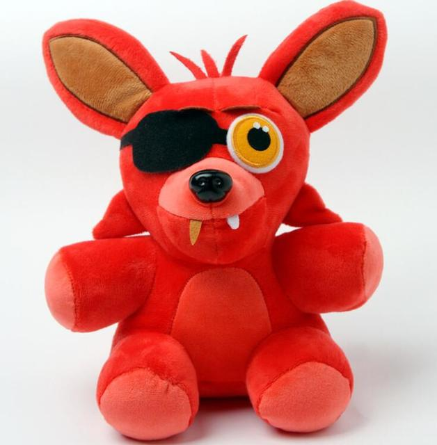 1pcs In stock 25cm Five Nights At Freddy's 4 FNAF Freddy foxy wolf Plush Toys Doll