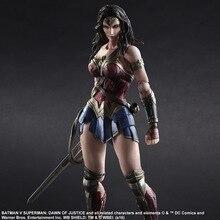 PLAY ARTS 27cm Wonder Woman DC Action Figure Model Toys