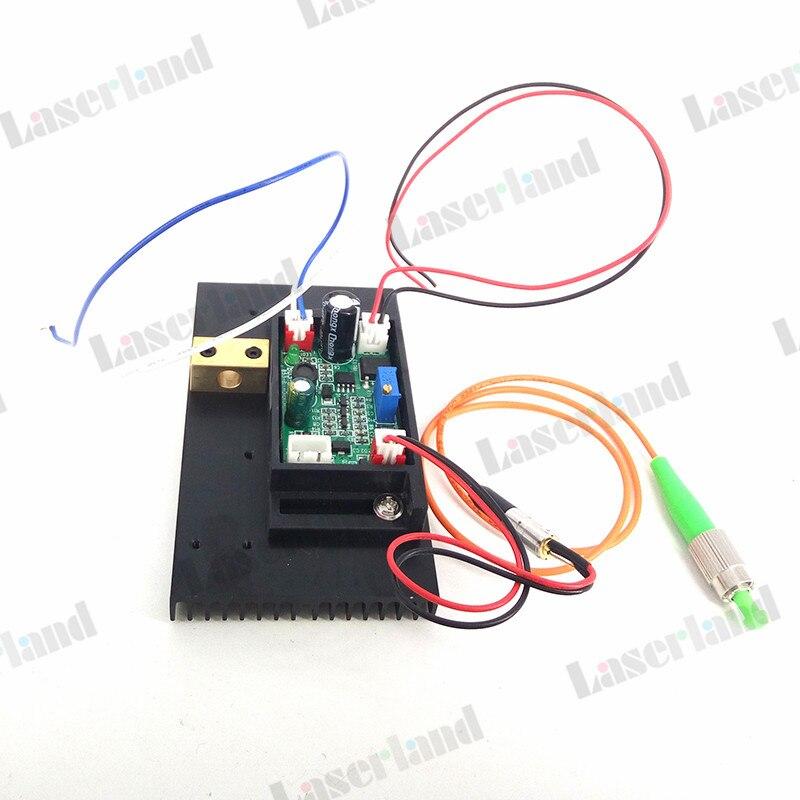 658nm 5mw 62.5/125um FC/APC Red Laser Pigtail Fiber Diode Module 12VDC TTL 1m цена