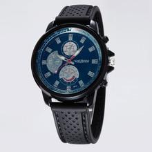Venta caliente Original de Alta Calidad Genuino de Los Hombres de Silicona Reloj Analógico Reloj Del Deporte de La Moda Hombres Relojes de Pulsera Reloj Jentlemen