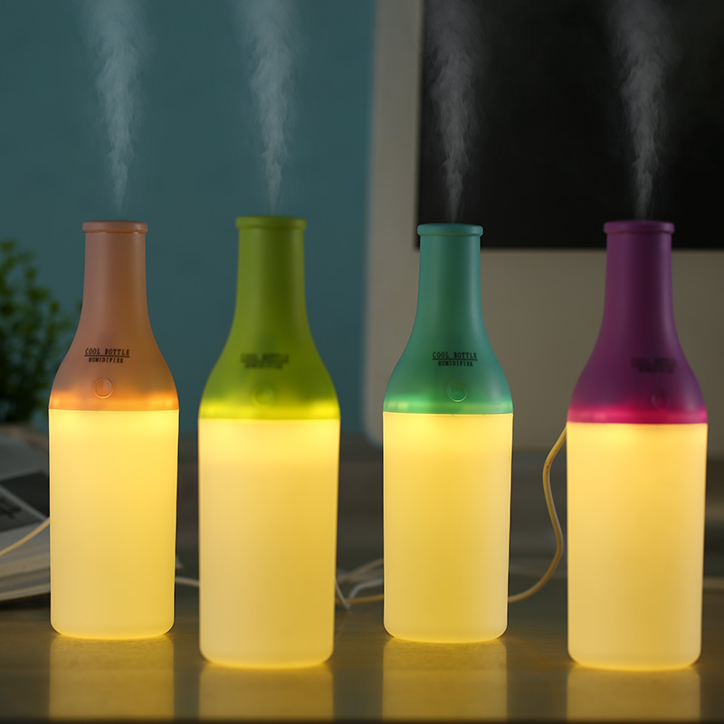 Cool Bottle Led Humidifier Home Aroma Air Diffuser Purifier Atomizer essential oil diffuser difusor de aroma mist maker fogger usb mini humidifier air humidifier aroma diffuser essential oil diffuser humidifier atomizer mist maker home carry