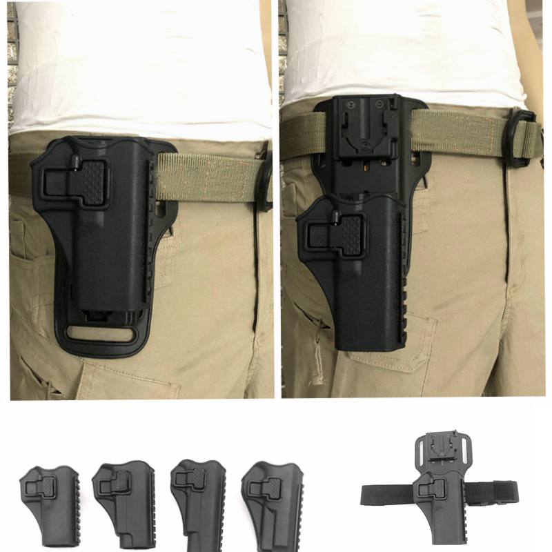 Tactical Adjustable Gun Holster /leg Holster Hunting Right Hand Use Drop Leg Holster for GLOCK 17 19 / 1911 / M92/ M9/P226
