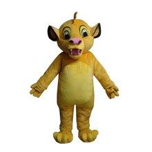Maskot Aslan Kral Simba Maskot Kostüm Özel Fantezi Kostüm Anime Cosplay Kitleri Mascotte Tema
