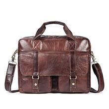 Unique Three-dimensional Personality Design Cow Leather Men Briefcase Fashion Large Capacity Multifunctional Retro Handbags