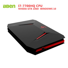 Bben GB01 mini computer Windows 10 7th Gen. Intel I7-7700HQ CPU NVIDIA GEFORCE GTX1060 6G GDDR5 Ram WIFI Bt4.0 No SSD/HDD