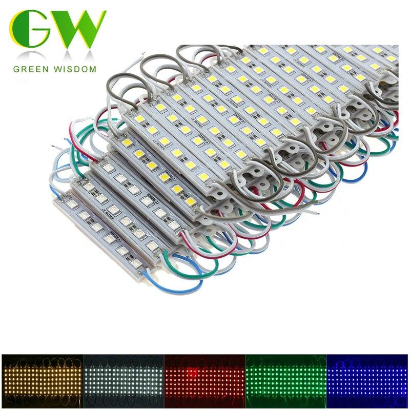 Светодиодный модуль 5050 6 светодиодных Водонепроницаемый белый/теплый белый/красный/синий/зеленый светодиодной подсветкой для мини знак об...