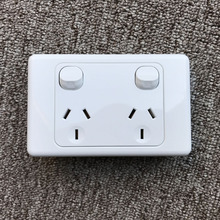 Australia Standard  Power Socket,,Doube Wall Socket  Australian AU Plug Electrical Wall Socket With separate switch