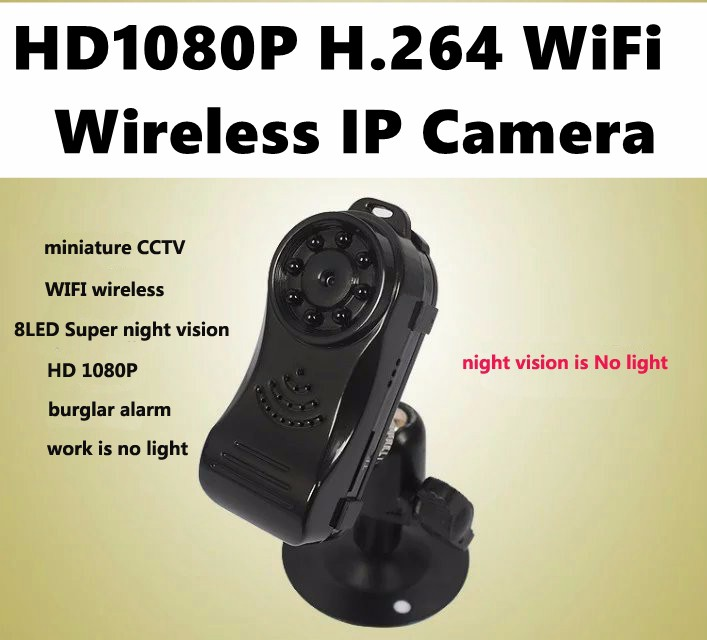 Mini DV HD 1080P Wireless IP Security Camera w/ 8LED Super No Light Infrared Night Vision Smart WiFi Camera for iOS Android View