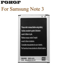 FGHGF 10PCS Batteries For Samsung Galaxy Note 3 B800BE N900 N9006 N9005 N9000 3200Mah стоимость