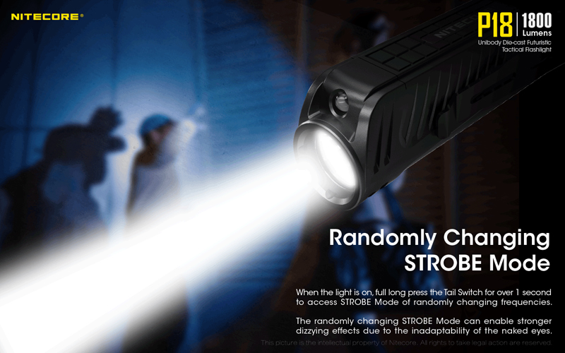 1800 Lumens Nitecore P18 Tactical Flashlight (10)