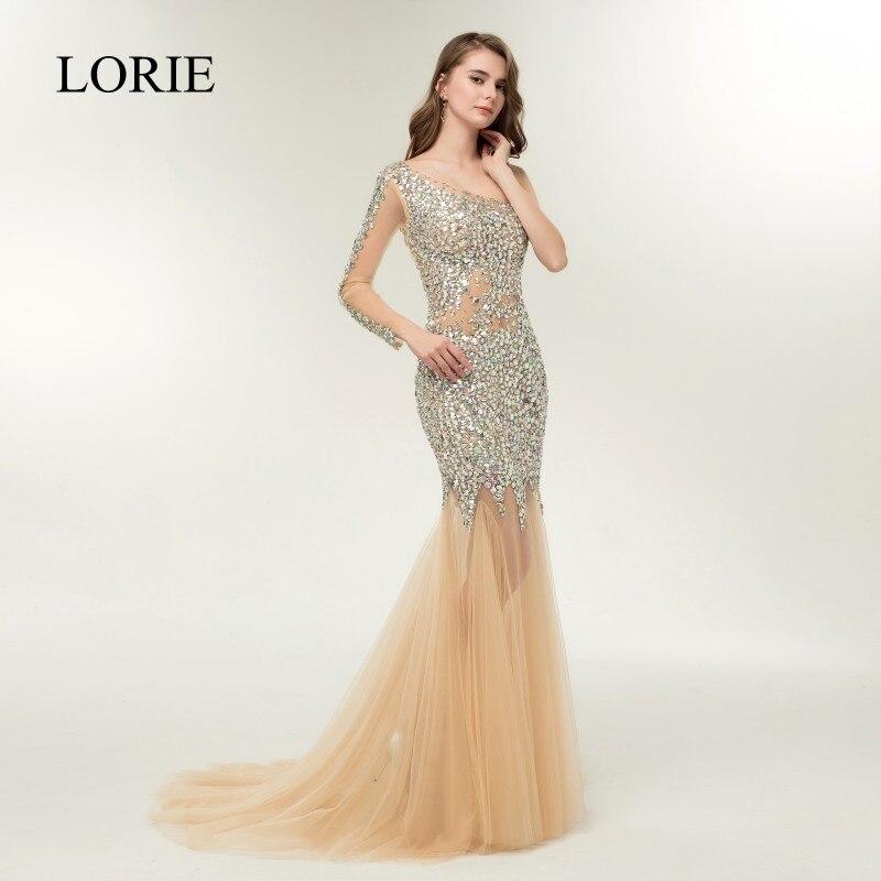 LORIE Luxury Evening Dress 2018 Abendkleider Crystal Backless Bling ...