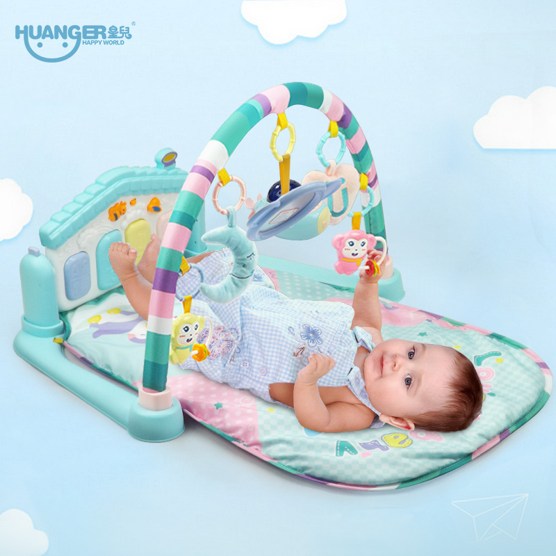 Huanger Baby Multifunction Play Rug Develop Crawling Children's Piano Music Mat Infant Fitness Carpet Educational Rack Toys pads