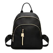 Женский рюкзак черная Модная студенческая школьная сумка для