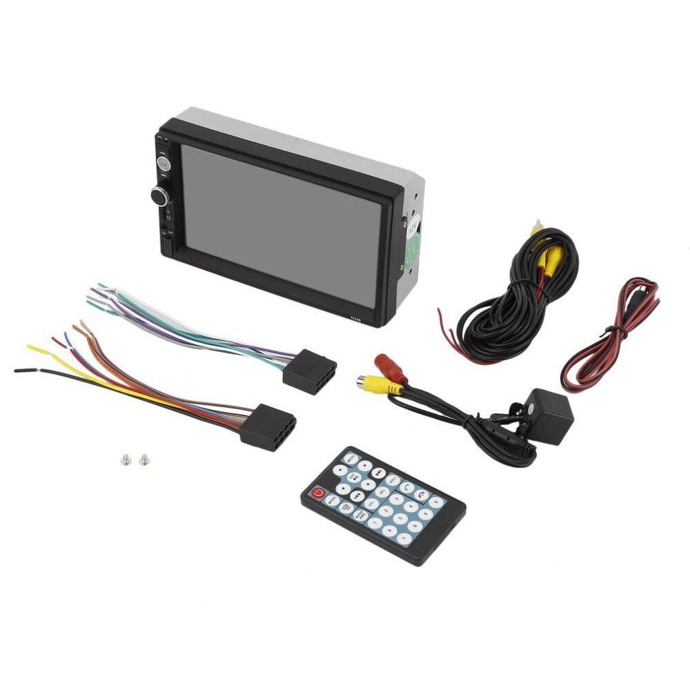 2 Din 7010B 7 pollice Dell'automobile MP5 Multimedia Player Radio di Tocco schermo Bluetooth FM USB AUX Supporta macchina fotografica di Retrovisione Della Macchina Fotografica di Telecomando