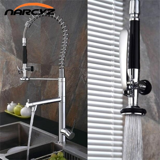 Narcyz Style Kitchen Faucet Brushed Nickel Faucet 360 Degree ...
