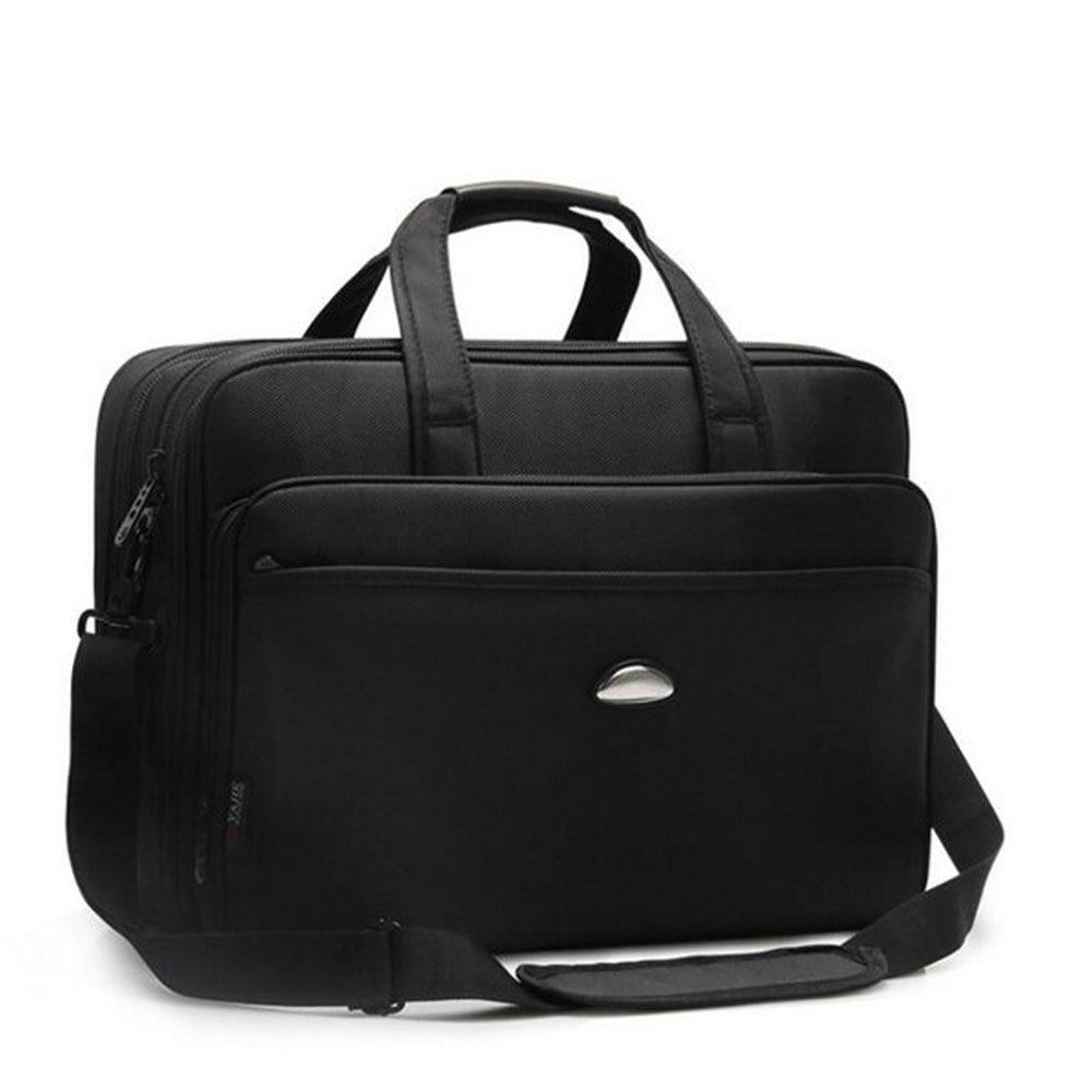 Maletín de negocios de los hombres 17 pulgadas bolso del ordenador portátil maletín masculino bolsos de alta calidad bolsa de ordenador portátil bolsa de hombro de múltiples funciones