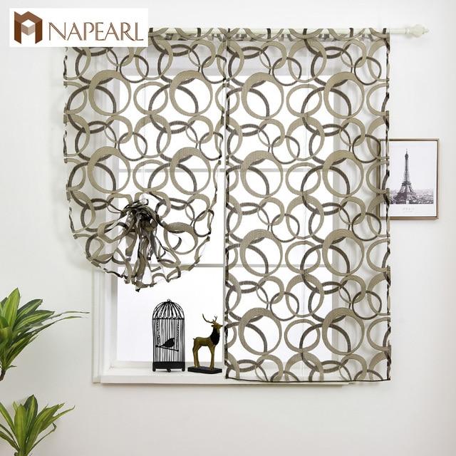 Cheap Kitchen Curtains Sink Filter Rod Pocket Roman For Window Geometric Short Draperies Modern Several