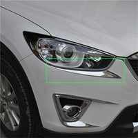 Car styling accessories Headlight Stickers Trim FOR Mazda CX 5 2013 2014 2015 2016 CX5 cx 5 ABS Chrome Head Light Lamp Cover